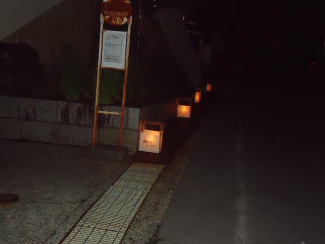 灯籠の灯火